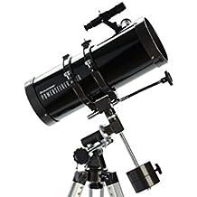 Celestron PowerSeeker 127 EQ - Telescopio (50x - 225x, distancia focal 1 m), color negro