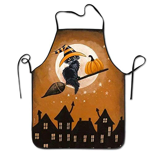 tgyew 2019 Apron Luff Halloween Cats Cooking Aprons for Adult Kids Gifts Kitchen Decorations (Halloween-tag Usa 2019)
