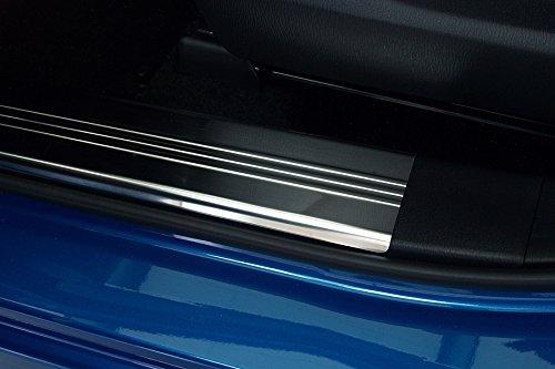 Preisvergleich Produktbild Tuning-Art 455R Edelstahl Innenraum Einstiegsleisten mit 2 Fach Abkantung