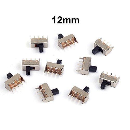 Cylewet vertikaler Schiebeschalter / Wechselschalter, 12 mm, mit 3 Pins, PCB-Panel, für Arduino, CLW1016, 10 Stück -