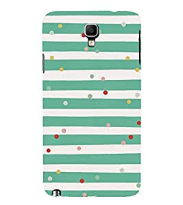 GREEN AND WHITE STRIPPED VINTAGE PATTERN 3D Hard Polycarbonate Designer Back Case Cover for Samsung Galaxy Note 3 Neo N7505