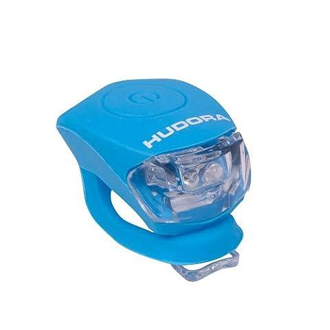 HUDORA LED Lampe Licht Shine, Fahrradlicht LED, himmelblau, 85066