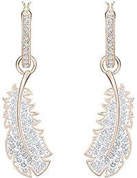 Swarovski - Créoles Femme - Métal Doré Rose Cristal Blanc - 5497872