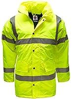 Hi Viz Vis Waterproof Storm Padded Parka Jacket Mens Coat by WWK / WorkWear King