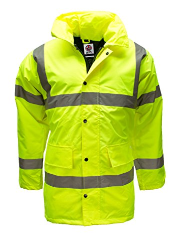 Hi Viz Vis Waterproof Storm Padded Parka Jacket Mens Coat by WWK / WorkWear King Test