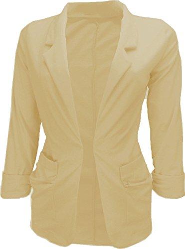 Glamour Fashion - Veste de tailleur - Femme Gris - Grau - Stone