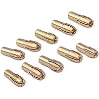 10Stk Messing Bohrfutter Spannzangenbits 0.5-3.2mm 4.8mm Schaft Passend f/ür Dremel Rotary Elektro-Schleifscheibenschlauch Oben