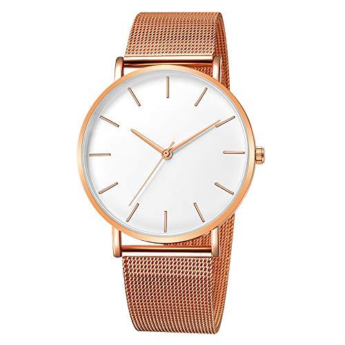 Quartz Uhren für Herren, Skxinn Männer Armbanduhr Zifferblatt Analog Business Minimalistische Quartz Armbanduhren mit Edelstahl Band Ausverkauf(E,One Size)