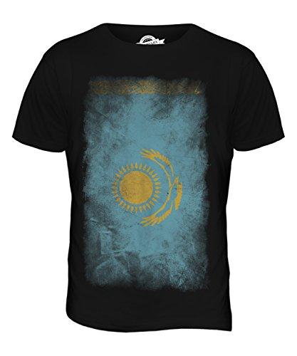 CandyMix Kasachstan Verblichen Flagge Herren T Shirt Schwarz