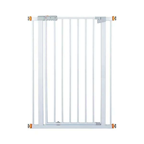 Child safety gate bar baby stair door pet dog fence indoor large dog stairs barrier fence AA-SS-Safety Door ♥Squeeze and lift handle for easy one handed adult opening ♥Quick-release fittings for removal when not required ♥Includes stop pins for mounting at the top of stairs 1