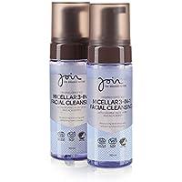 Join - Agua micelar desmaquillante 3 en 1 con bayas de açaí y extracto de olivas ecológico (pack de 2 botes de 195 ml cada uno)