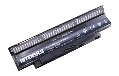 INTENSILO Li-Ion Akku 6000mAh (10.8V) für Notebook Laptop Dell Inspiron N4010-148, N4010D-158, N5010, N7010 wie J1KND, 04YRJH, 312-0233 u.a. (Laptop Akku Für Dell N7010)