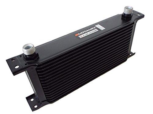 Motamec - Radiatore olio 16 file, matrice 235mm, 1/2BSP, nero,