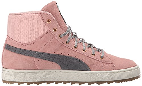 Puma Suede Classic Fashion Sneaker Coral Cloud Pink/Steel Gray