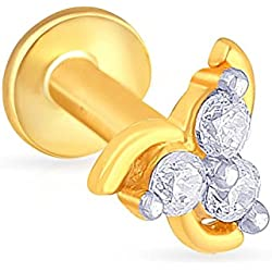 Malabar Gold & Diamonds 22KT Yellow Gold Nose Pin for Women
