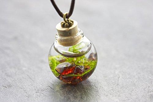 Unterwasserwelt - Moos Granat - echte Wasserpflanze - Kette