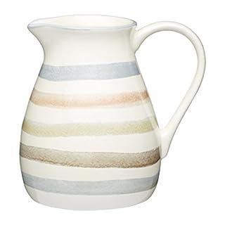 KitchenCraft Classic Collection Striped Ceramic Milk Jug, 500 ml (17 fl oz) - Cream