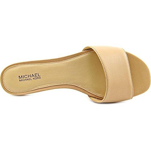 Michael Michael Kors Joy Slide Femmes Cuir Sandale Nude