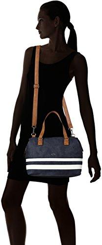 GERRY WEBER Damen Summer Wish Handbag Mhz Henkeltasche, 14,5 x 21,5 x 30 cm Blau (Dark Blue)