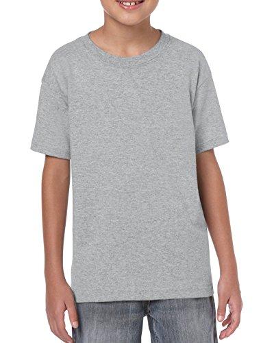 Gildan Maglietta in cotone pesante da bambino Small,Sports Grey