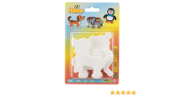 Taille Unique Hama- Elephant Penguin /& Dog pegboard Blister Pack Perles /à Repasser Multicolore 4572