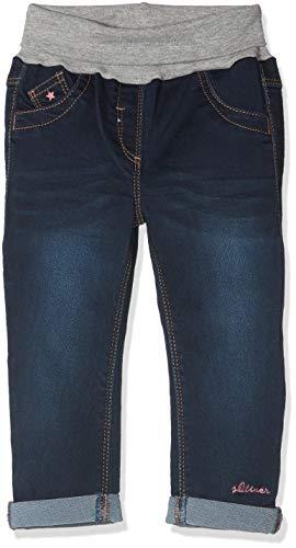 s.Oliver Baby-Mädchen Jeans 65.809.71.3320, Blau (Blue AOP 57z2), 86