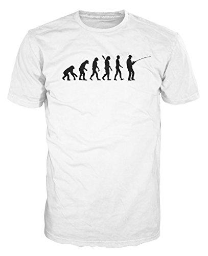 Fisher Evolution Funny T-shirt (XL, White) (Tshirt Fisher)