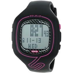Soleus SG102-011 Women's GPS Vibe Vibration Alert Grey Digital Dial Chrono Watch