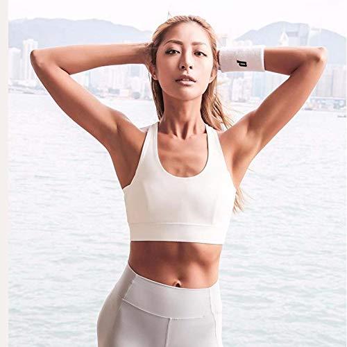 LXJ Sport-BHS, weißen Bügel Push-Up-Sport-BH for Frauen-Gymnastik-laufenden Yoga Top-BH Sport Weste höhlt heraus Sportswear Unterwäsche (Color : White, Size : M) - 3
