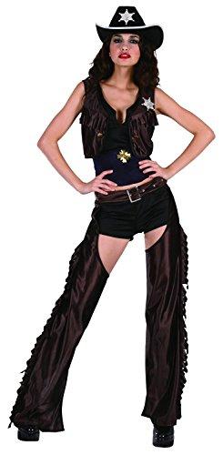 Cowgirl-Kostüm mit Beinschutz für Damen (Cowgirl Kostüm Für Erwachsene)