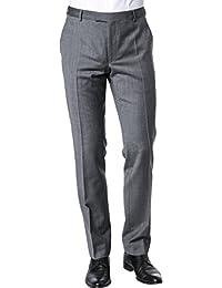 Strellson Premium Herren Hose Mercer Schurwolle Pant Meliert, Größe: 106, Farbe: Grau