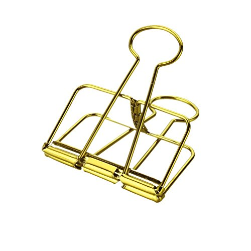 Metall Binder Clips Draht Clips, gold (6 Stück) ... -