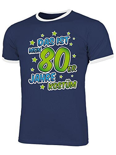 80er Jahre Kostüm Männer T-Shirt Motto Schlager Party Karneval Fasching Geschenke Schlagertshirt Kleidung Gruppenkostüm Zubehör Brille Deko Jacke