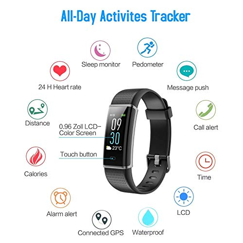 Zoom IMG-2 hetp fitness tracker impermeabile ip68
