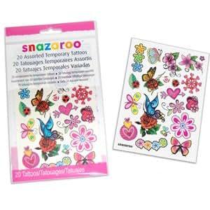 Snazaroo Girls Tattoos Pack of 20