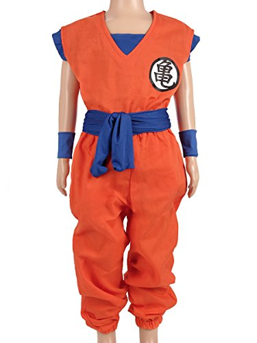 CoolChange Drachen Ball Kinder Kostüm, Son Goku Trainings Anzug beim Herr der Schildkröten, Größe: ()