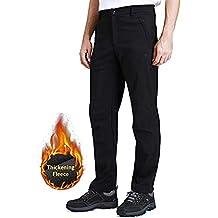 CAMEL CROWN Pantalones de Invierno para Hombres Pantalones de Softshell  Pantalones Deportivos al Aire Libre con 7c127f0d4e5d