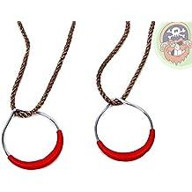 Seilringe Turnringe rot mit Seil von Gartenpirat®