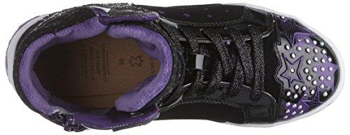 Geox Ayko G A, Sneakers Hautes fille Noir (C9233)