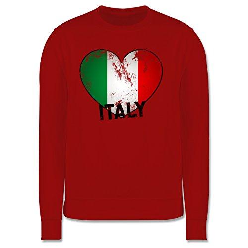 EM 2016 - Frankreich - Italien Herz Vintage - Herren Premium Pullover Rot