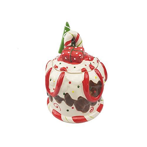 Porta cioccolatini porta caramelle porta biscotti cofanetto natalizio 17 cm con albero di natale idea regalo natale addobbo natalizio