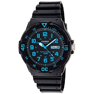 Casio Enticer Analog Black Dial Men's Watch – MRW-200H-2BVDF (A742)