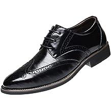 Soldes Homme Chaussures Richelieu Fauve Large en Cuir,Overdose Mode  Mocassins à Lacets Elégance Mariage 0526bff0955