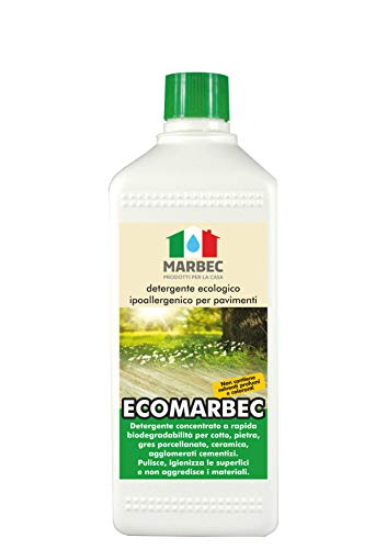 Marbec - ECOMARBEC 1LT   Detergente Ecologico ipoallergenico concentrato per Pavimenti e Rivestimenti