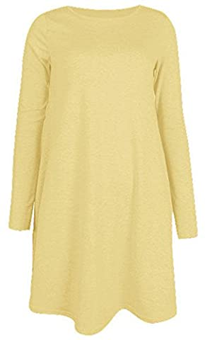 Re Tech UK Damen Kleid Gr. S/M, Lemon Pale Yellow