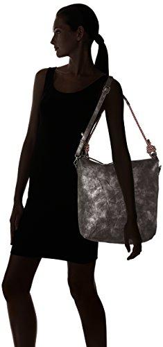 Tamaris - Lindsey Hobo Bag, Borse a spalla Donna Nero (Black Metallic)