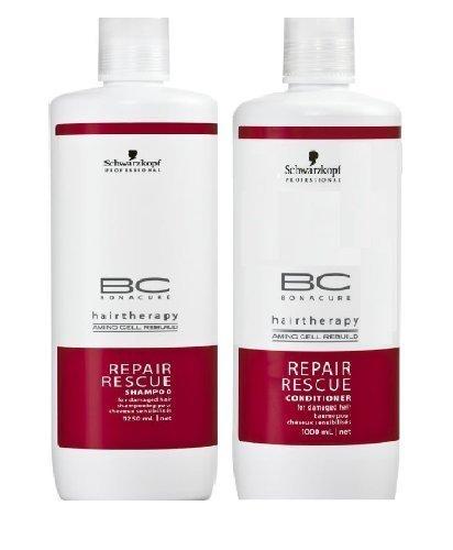 Schwarzkopf Bonacure Repair Rescue Shampoo and Conditioner Liter Duo Set (33.... by Schwarzkopf [Beauty]