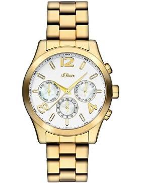 s.Oliver Damen-Armbanduhr Analog Quarz Edelstahl beschichtet SO-2393-MM