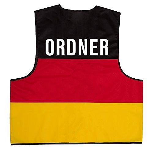 Ordner-fan (Warnweste mit Rückenprint - Ordner - Deutschlandfarben - Einheitsgröße 2XL - 10317/2)