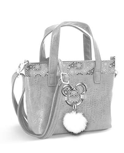 Karactermania Mickey Mouse Paisgrey-bolso Tote (Grande) Umhängetasche, 33 cm, Grau (Paisgrey) (Mouse Handtaschen Mickey)